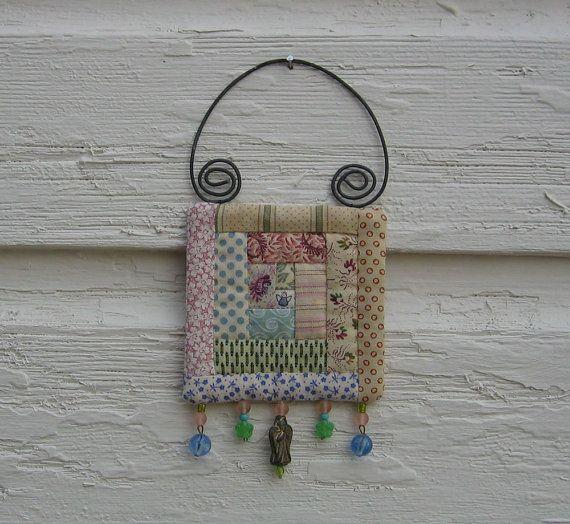 quilt ornament - angel - log cabin