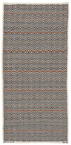Barbro Nilsson: designer   rosengång med brun rand: rosepath with brown stripe   215 cm x 103 cm   AB Märta Måås-Fjetterström   Båstad, Sweden   1943   signed AB MMF BN