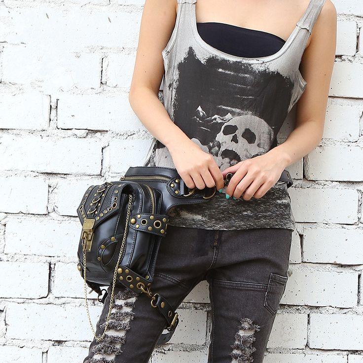 Carteras mujer женщины сумку Двигателя ног Outlaw Пакет Бедра Кобура Защищены Кошелек Плеча Рюкзак Кошелек бедра мешок Паровой панк сумка купить на AliExpress