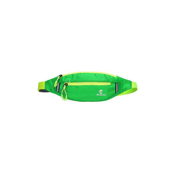 Unisex Nylon Running Waist Bag Phone Bag Portable Coin Bag Purse ($8.01) ❤ liked on Polyvore featuring bags, apple green, belt pocket bag, belt fanny pack, zip bag, fanny bag and bum bag