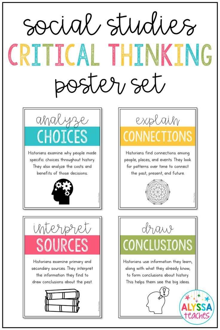 These Critical Thinking Skills Posters For Social Studies And Social Studies Middle School Middle School Social Studies Classroom High School History Classroom Reading like historian declaration of