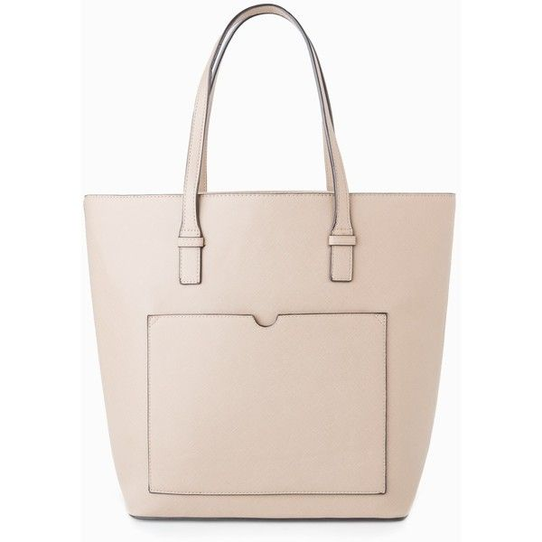 Saffiano-Effect Shopper Bag (£16) ❤ liked on Polyvore featuring bags, handbags, tote bags, mango tote bag, pink tote bags, zippered tote bag, mango handbags and top handle purse