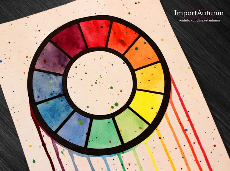 Drawing a Colour Wheel! Watch me draw it on my Youtube account: www.youtube.com/importautumn
