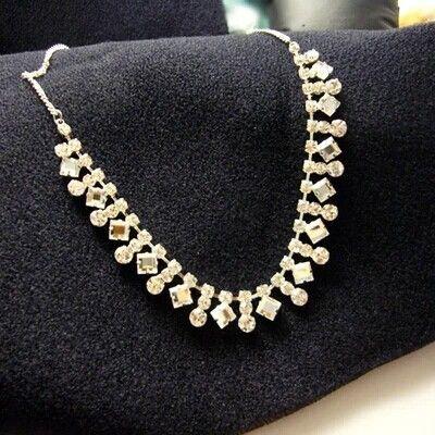 Великолепный горный хрусталь кристалл Геометрия колье ожерелье, блестящий серебряный позолоченный воротник ожерелье для женщин свадебные украшения