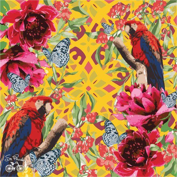Jessica Aquino, pattern, tropical, wallpaper,
