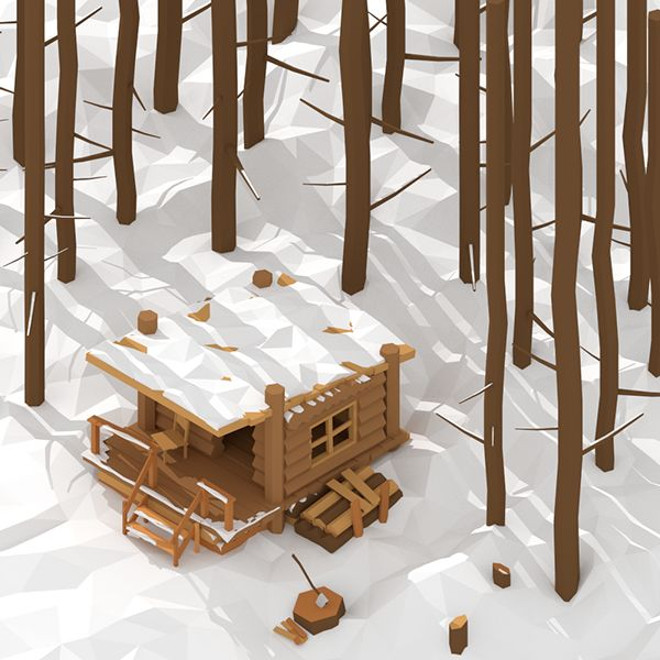 Low Poly Works on Behance