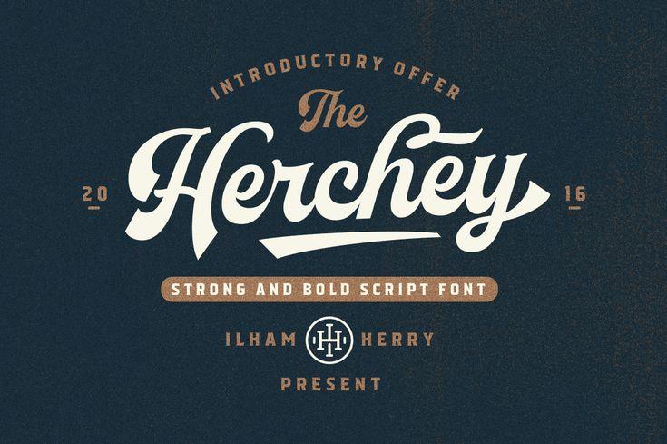 Herchey Script - 30% off by ilhamherry on @creativemarket