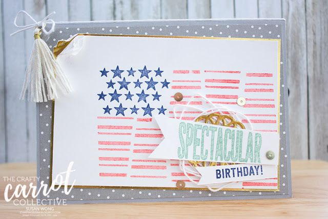 Star-Spangled Cake Crazy - Susan Wong for The Crafty Carrot Co.