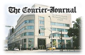 The Courier-Journal. This familiar logo is daily inked on dwindling thousands of newspapers, almost as a kind of mockery, for what's inside is hardly news, and the item itself has become a featherweight pamphlet. Old people hang onto it, for the TV section (which costs extra) and obits (which can be novel-sized, for a price) and crosswords. Otherwise, internet-goers already knew yesterday it happened. Save a tree, save your cash. It was great while it lasted. (KevinR@Ky)