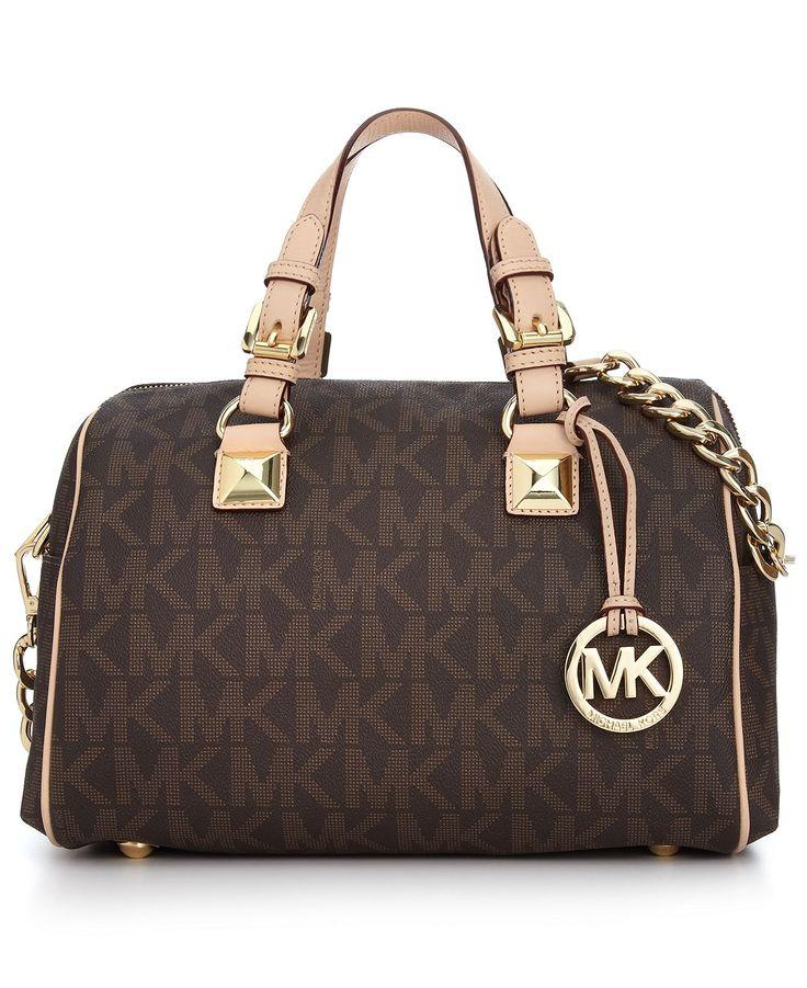 MICHAEL Micheal Kors Handbag, Grayson Monogram Medium Satchel - Handbags - Handbags & Accessories - Macy's