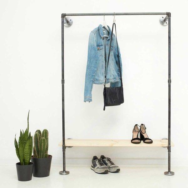Wasserrohr Kleiderstange Regal Kleiderregal Kleiderstange Garderobe Design