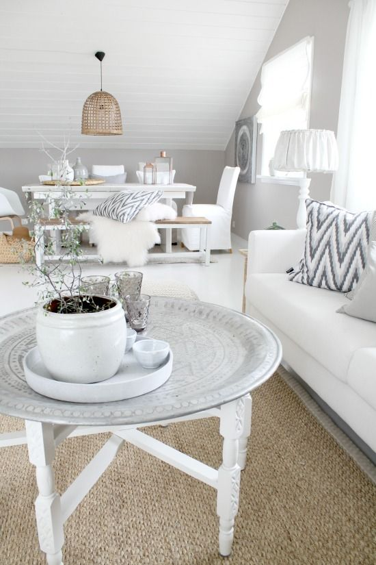 traditional Moroccan tray table in white... | The best coffee tables home design ideas! See more inspiring images on our boards at: http://www.pinterest.com/homedsgnideas/home-design-ideas-coffee-tables/