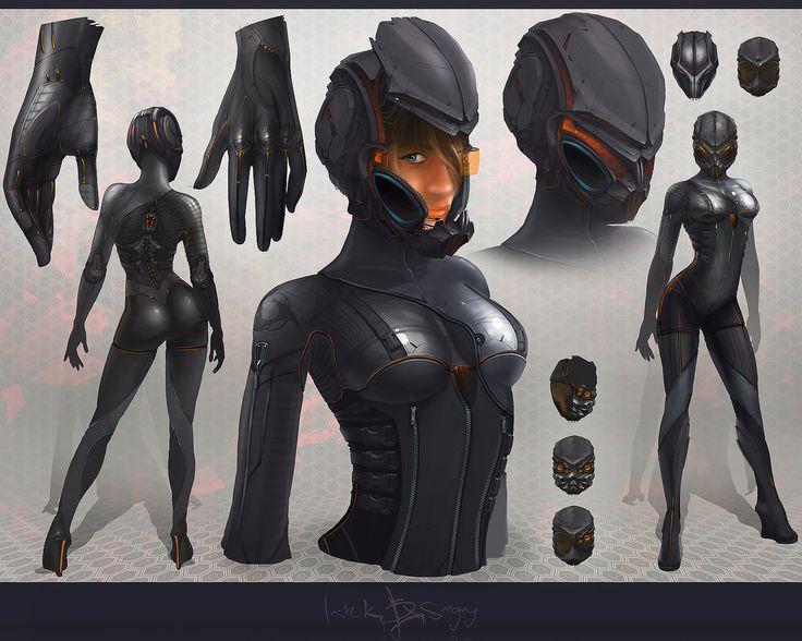 Gryllotalpa Orientalis - Mari by ~nitro-killer on deviantART, beautiful girl, cyborg, cyberpunk, futuristic warrior, robot girl, future, futuristic, cyber girl, cyberpunk girl, cyborg girl, robot, future warrior