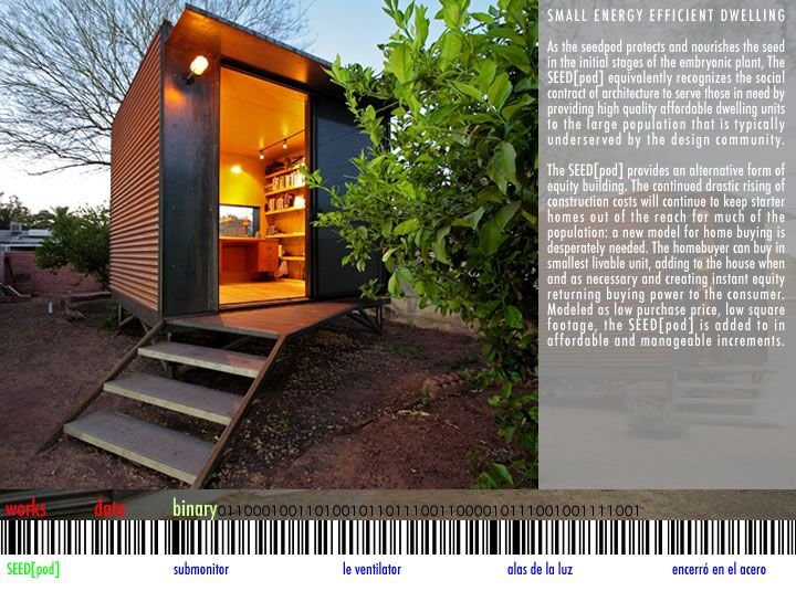 SEED[pod] Small Energy Efficient Dwelling