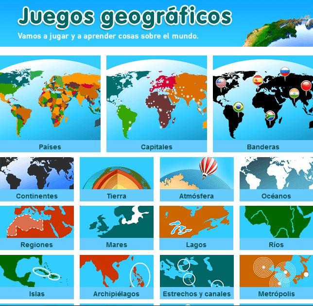 Estudiando Geografía Sensacionales juegos interactivos Sitio-BlogGesvin
