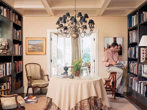 Dining in the library when dining rooms are libraries for Dining room library