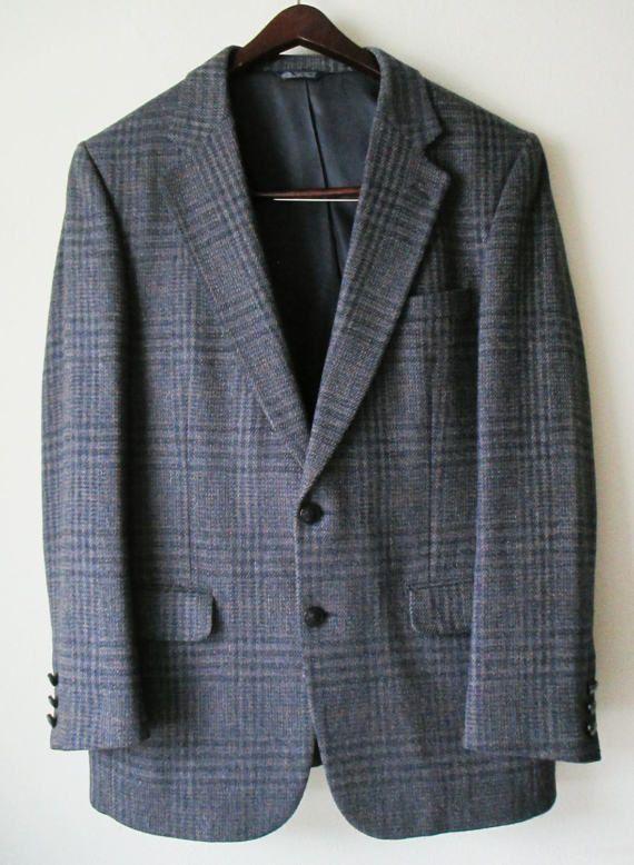 Men's Burberry Glen Plaid 100% Wool Jacket Blazer by FourCoquettes