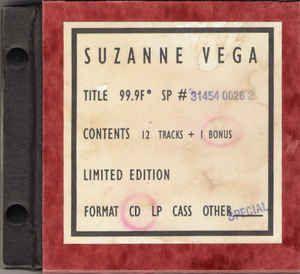 Suzanne Vega - 99.9F°: buy CD, Album, Ltd at Discogs
