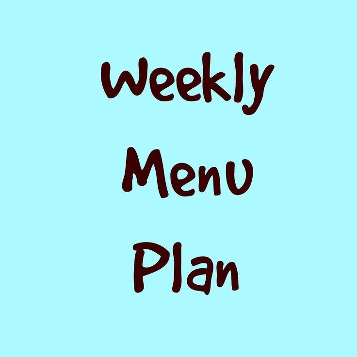 Weekly Menu Plan 10/11