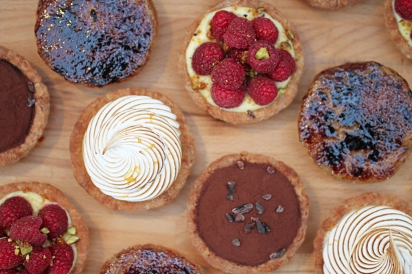 rustic tarts - meyer lemon/raspberry - chocolate cremeux - meyer lemon ...