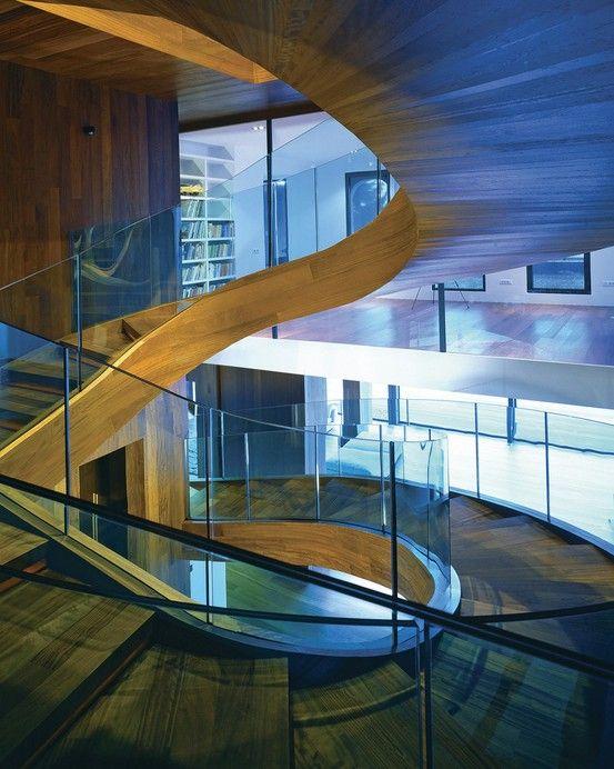 justthedesign:    Staircase ByOFIS arhitekti: Modern But, Spirals Stairs, Staircases Design, Stairca Design, Staircase Design, Stairca By Ofi, Modern Staircase, Villas, Architecture