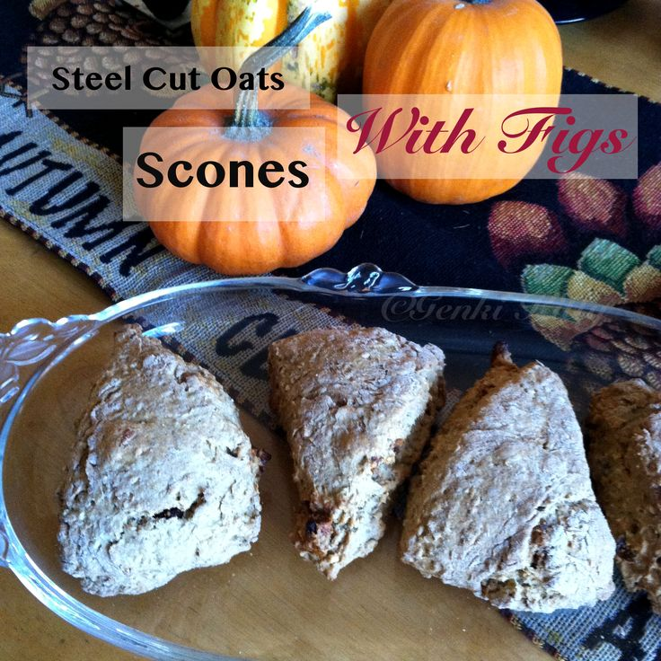 Steel Cut Oat Scones with Figs Recipe Vegan