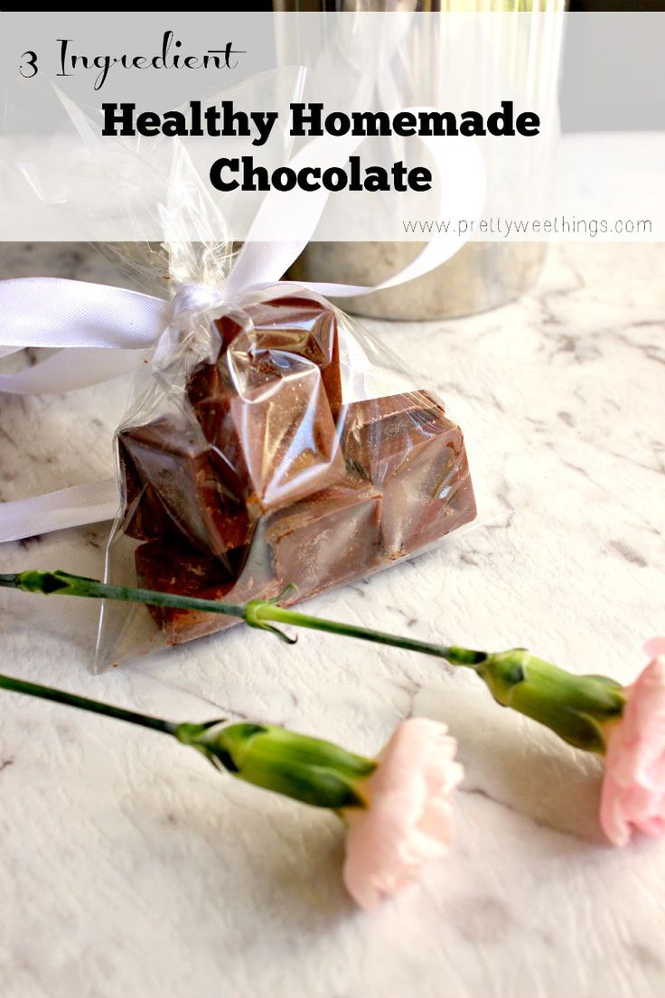 3 ingredient healthy homemade chocolate