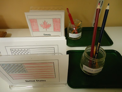 Coloring Flags of North America from To the Lesson!