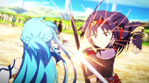 Asuna Vs Yuuki | Sword Art Online | Gif