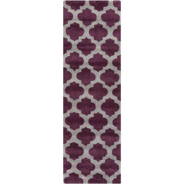 Ettrick Violet (Purple) 2 ft. 6 in. x 8 ft. Indoor Rug Runner