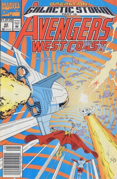 AVENGERS West Coast Vol1 82 (1992) | Operation Galactic Storm | Major EVENTS of the Marvel UNIVERSE