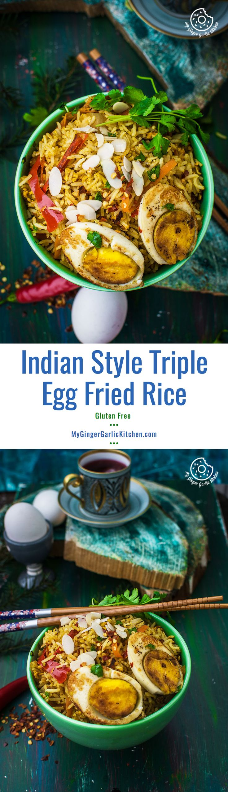 This Indian Style Triple | Easy Egg Fried rice would surely tickle the egg lovers amongst us. It tastes scrumptious.  And it takes only in 30 minutes.