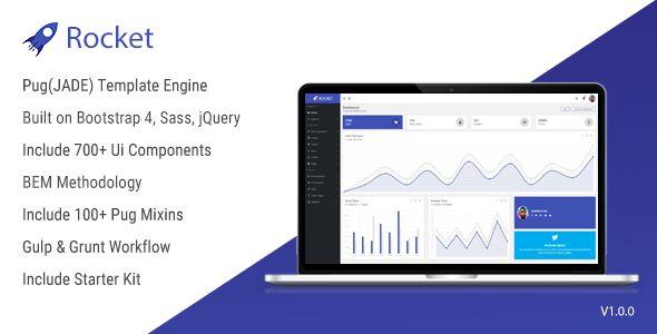 Rocket - Bootstrap 4 Admin Template + Pug(JADE) Template Engine + BEM - Admin Templates Site Templates