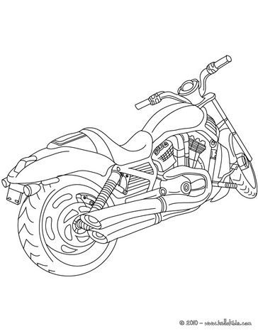 Harley-Davidson Coloring Pages to Print   Harley Davidson color in coloring page