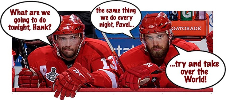 Domination from Zetterberg and Datsyuk? There are worst