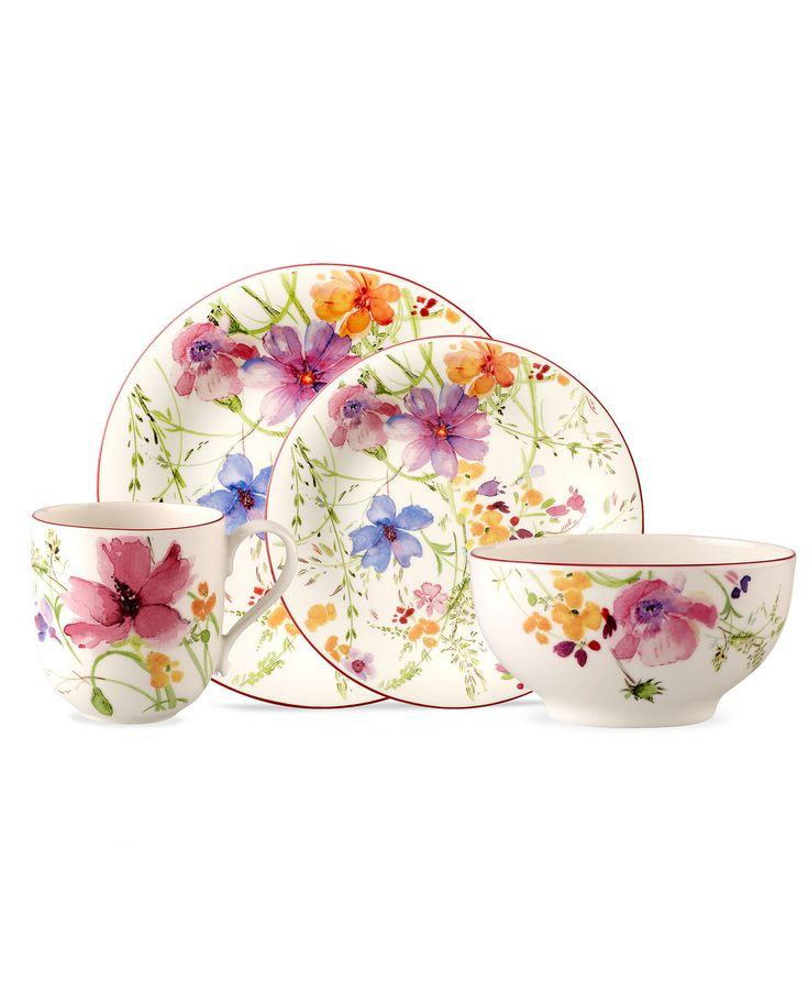 Villeroy & Boch Dinnerware, Mariefleur Collection - Sale & Closeout - Dining & Entertaining - Macy's