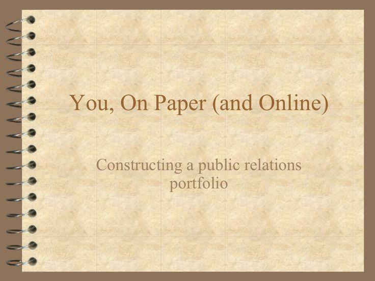 public-relations-portfolios by Karen Russell via Slideshare