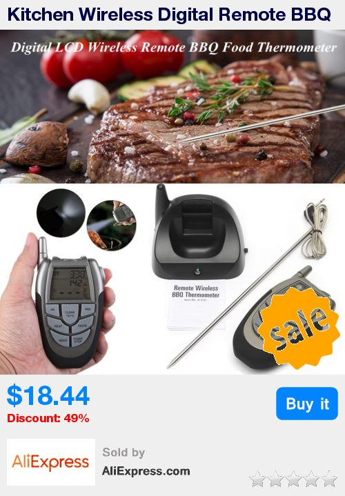 Kitchen Wireless Digital Remote BBQ Thermometer Food Timer Probe Home LCD Display Food Temperature Measurer Gauge Cooking Tools * Pub Date: 21:27 Apr 2 2017