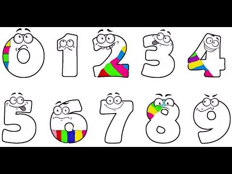Учим ЦИФРЫ И ЦВЕТА . Раскраска для детей / Learn NUMBERS ...