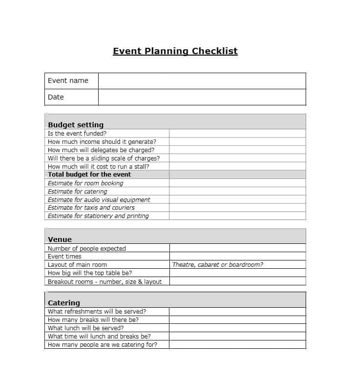 Download Event Planning Template 25 Event/Party Planning In 2018