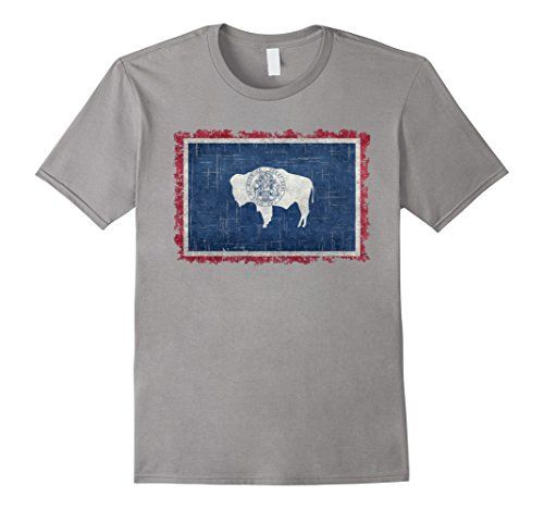 Mens Wyoming State Flag T-Shirt with Super Heavy Grungy T... https://www.amazon.com/dp/B073BX6VT5/ref=cm_sw_r_pi_dp_x_3JJGzb3MEFXRV #Wyoming #Wyomingtee #Wyomingflag