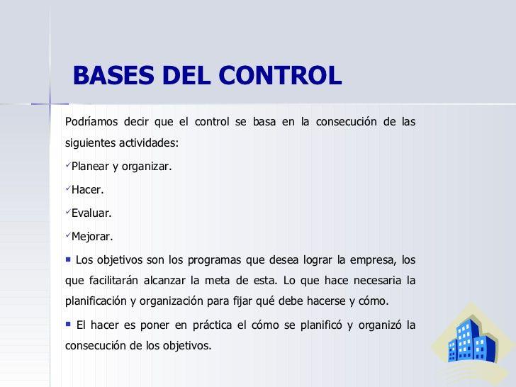 Control En El Proceso Administrativo Administrativas Proceso