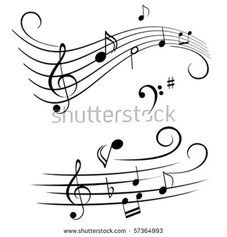 Image result for clipart free music staff abstract
