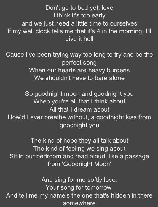 Goodnight nurse the night lyrics