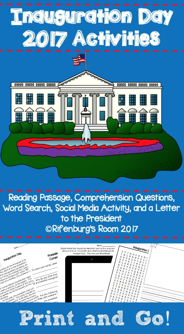 Inauguration Day Activities Inauguration Day Printables Inauguration Day Reading Passage Inauguration Day in the Classroom Inauguration Day Word Search