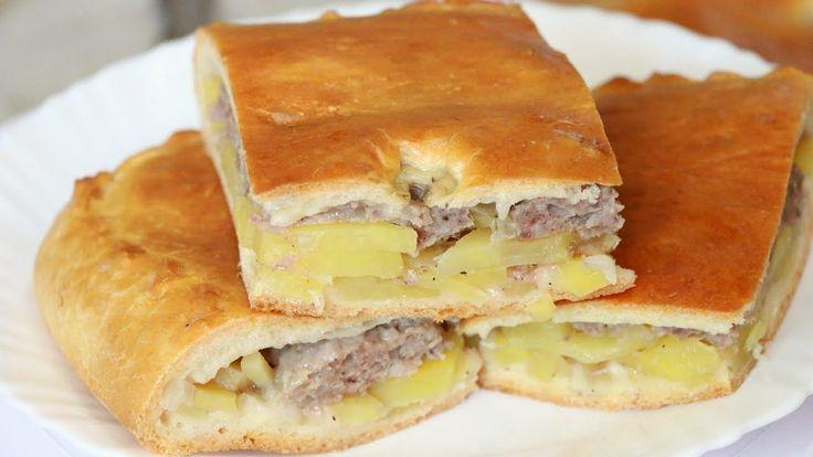 Ну, оОчень вкусный - Пирог с мясным фаршем и картошкой! - YouTube