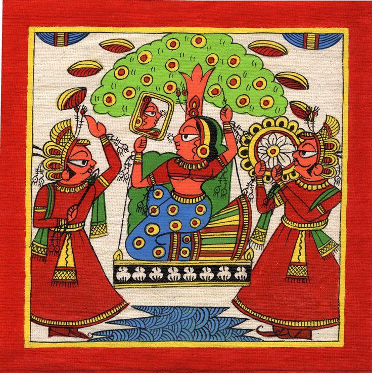 Rajasthan Phad Painting Handmade Indian Folk Miniature Ethnic Tribal Royalty Art