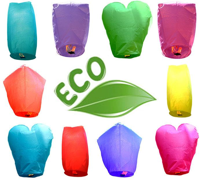 Just Artifacts offers ECO-friendly flying sky lanterns at unbeatable price. They are 100% biodegradable Chinese Floating Lanterns.