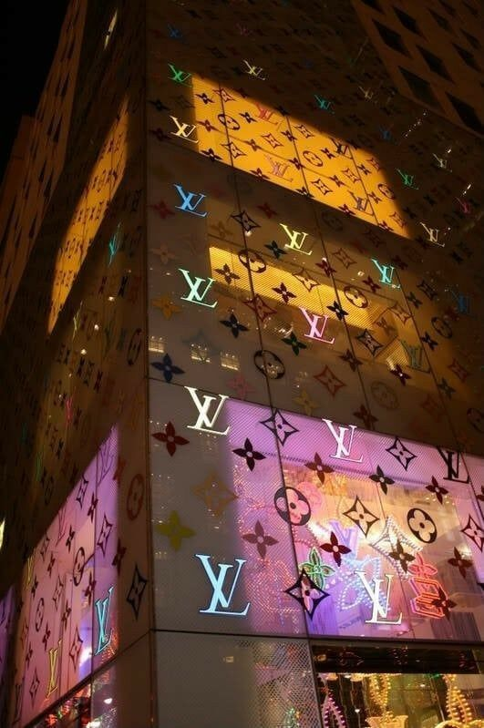 Vintage, blue aesthetic, blue walls, blue wallpapers, neon wallpaper,. LOUIS VUITTON #LOUIS #VUITTON | Photo wall collage