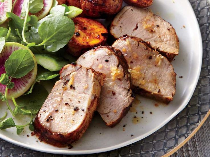 Sherry vinegar has more depth and less tang and sharpness than other vinegars. It rounds out the sweet honey and pungent ginger. You can substitute red wine or apple cider vinegar (balsamic and white wine may be too sharp, rice vinegar too mild). Since the thin glaze would burn on the grill if added too early, grill the pork most of the way through, then brush with the glaze and turn continuously for the final 6 minutes or until done. A fresh, crisp salad is a welcome change of pace from…